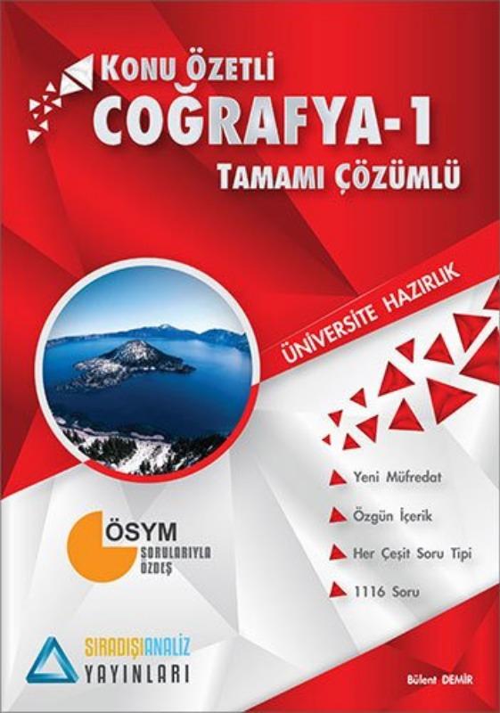 Sıradışıanaliz Yayınları TYT Coğrafya 1 Konu Özetli Tamamı Çözümlü