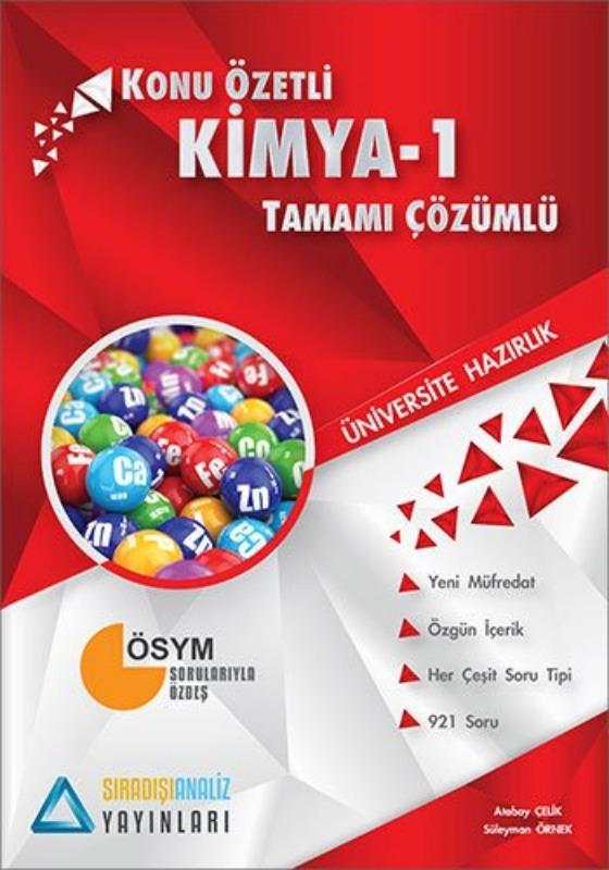 Sıradışıanaliz Yayınları TYT Kimya 1 Konu Özetli Tamamı Çözümlü
