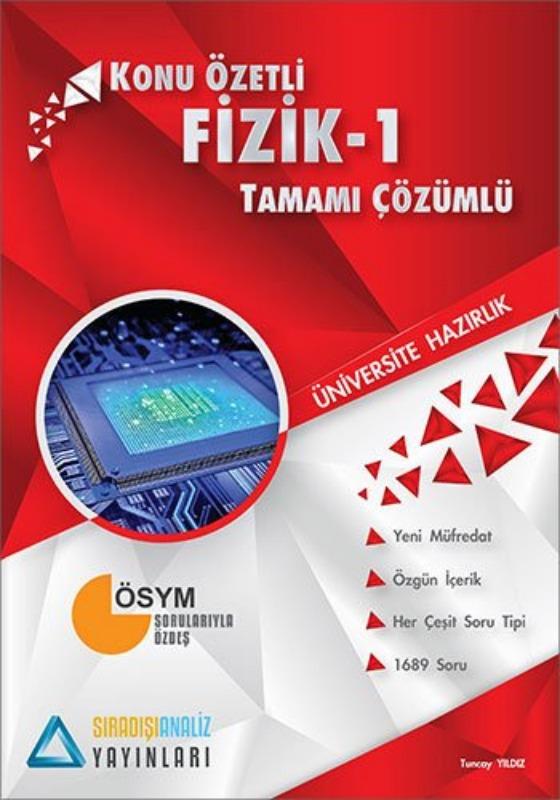 Sıradışıanaliz Yayınları TYT Fizik 1 Konu Özetli Tamamı Çözümlü