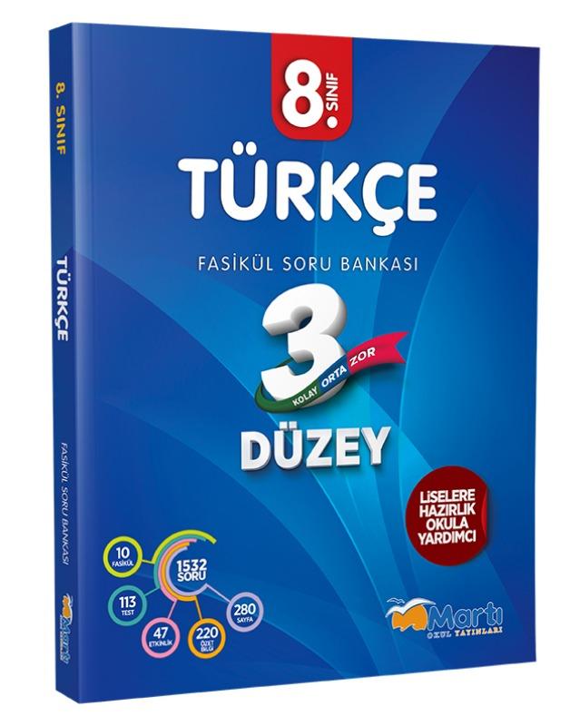 8.Sınıf  Türkçe 3 Düzey Fasikül Soru Bankası  Martı Okul Yayınları