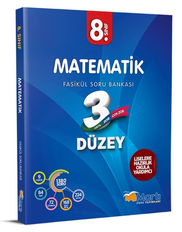 8.Sınıf Matematik 3 Düzey Fasikül Soru Bankası Martı Okul Yayınları
