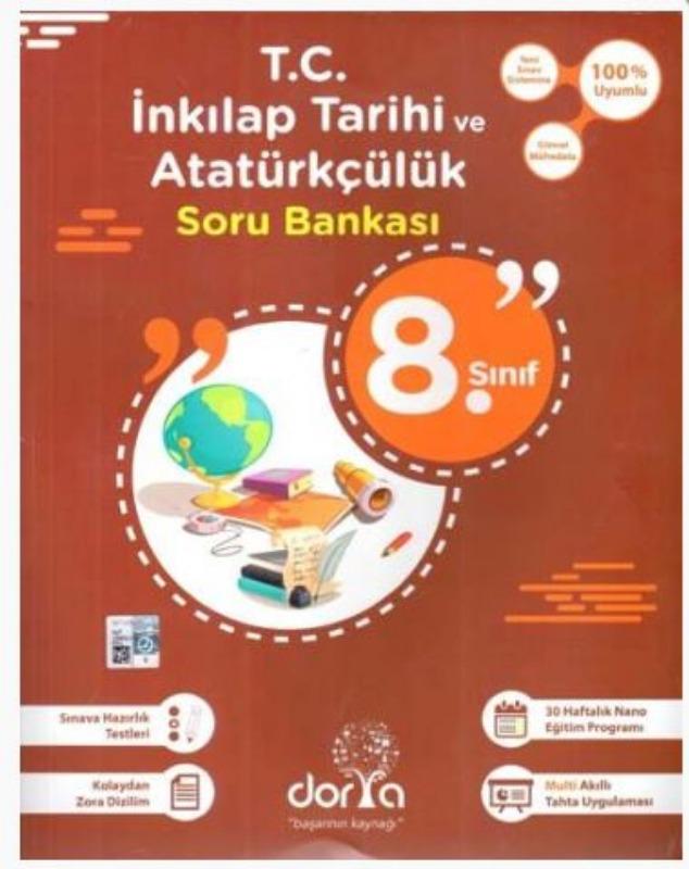 Dorya Yayınları 8. Sınıf T.C. İnkılap Tarihi ve Atatürkçülük Soru Bankası