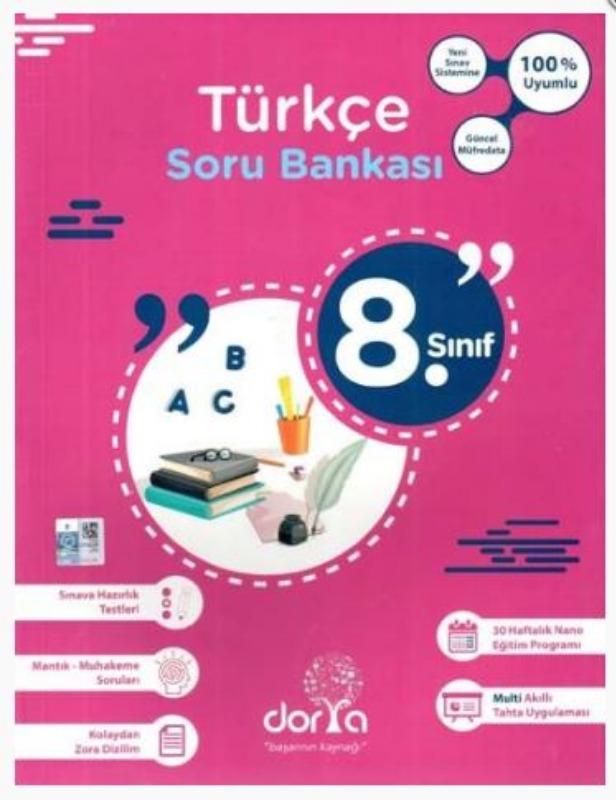 Dorya Yayınları 8. Sınıf Türkçe Soru Bankası