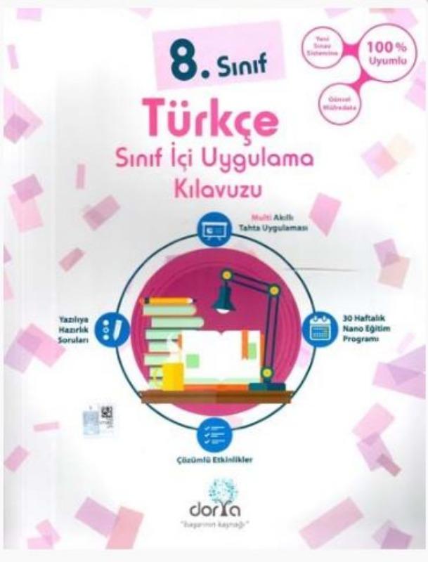 Dorya Yayınları 8. Sınıf Türkçe Sınıf İçi Uygulama Kılavuzu