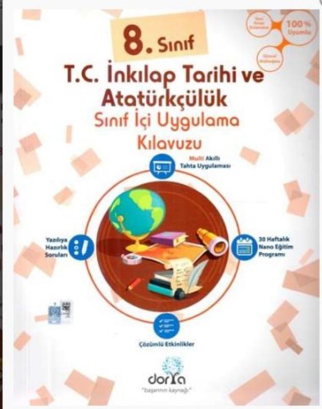 Dorya Yayınları 8. Sınıf T.C. İnkılap Tarihi ve Atatürkçülük Sınıf İçi Uygulama Kılavuzu