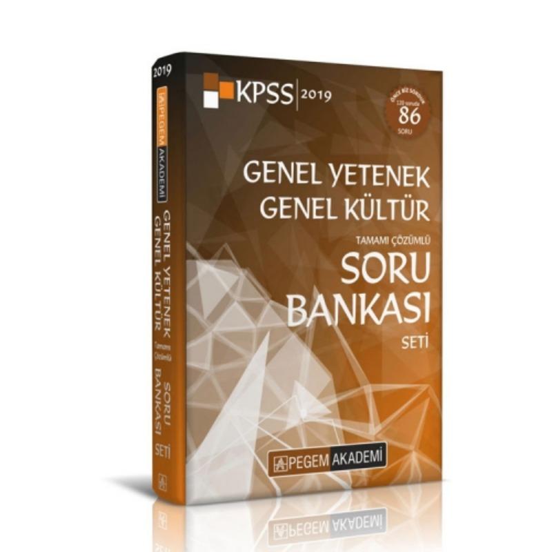 Pegem Yayınları 2019 KPSS Genel Yetenek Genel Kültür Tamamı Çözümlü Soru Bankası Seti