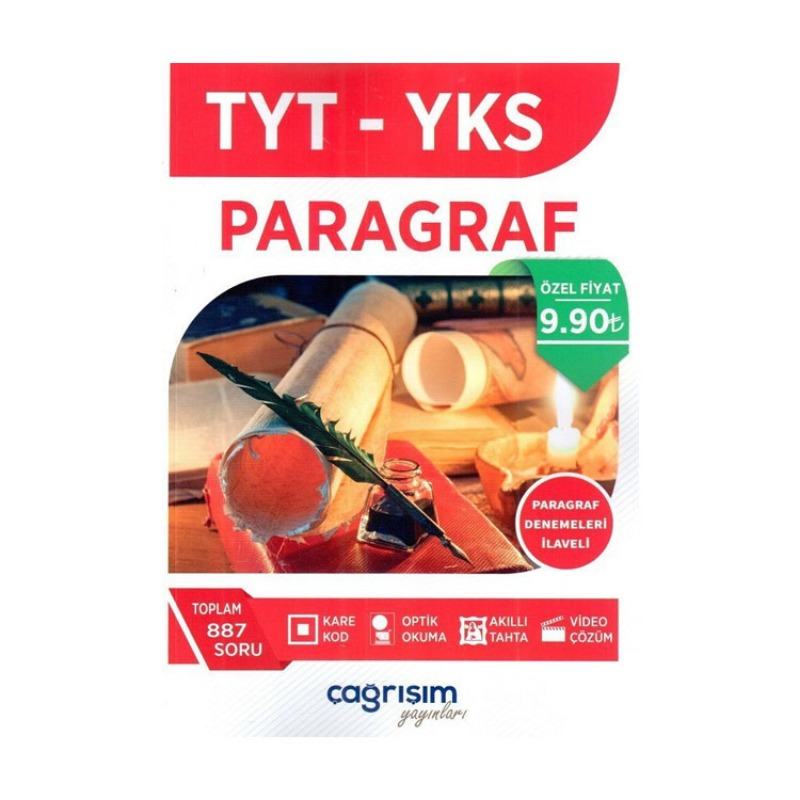 Çagrışım Yayınları TYT Paragraf Soru Fasikülü Paragraf Denemeleri İlaveli