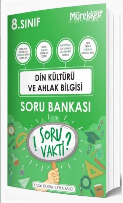 Mürekkep Yayınları 8. Sınıf Din Kültürü ve Ahlak Bilgisi Soru Bankası