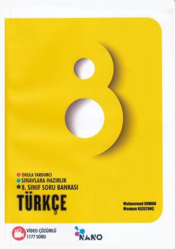 Mikro Hücre Yayınları 8. Sınıf Nano Türkçe Video Çözümlü Soru Bankası