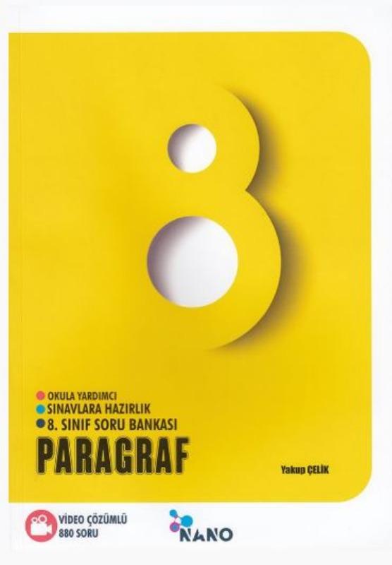 Mikro Hücre Yayınları 8. Sınıf Nano Paragraf Video Çözümlü Soru Bankası