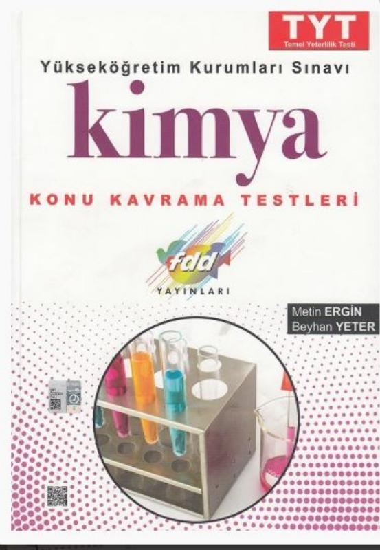 FDD Yayınları TYT Kimya Konu Kavrama Testleri