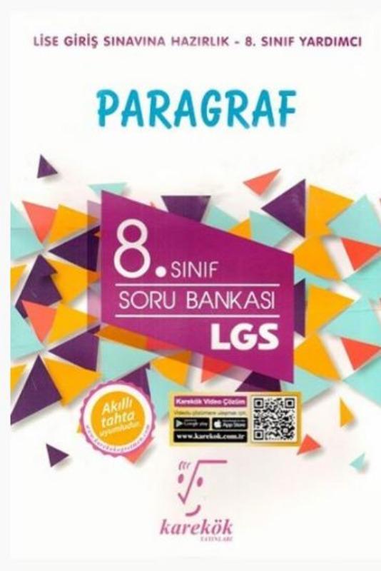 Karekök Yayınları 8. Sınıf LGS Paragraf Soru Bankası
