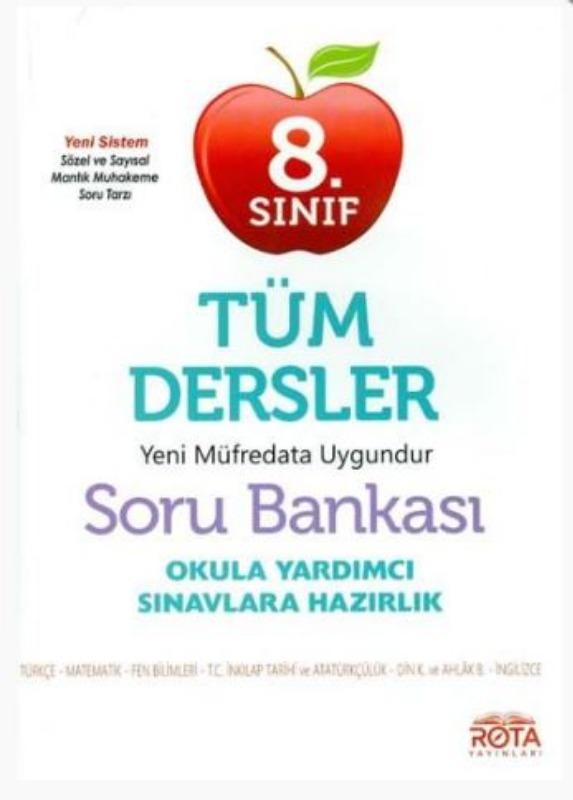 RTY Rota Yayınları 8. Sınıf LGS Tüm Dersler Soru Bankası