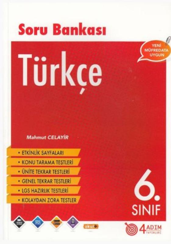4 Adım Yayıncılık 6. Sınıf Türkçe Soru Bankası