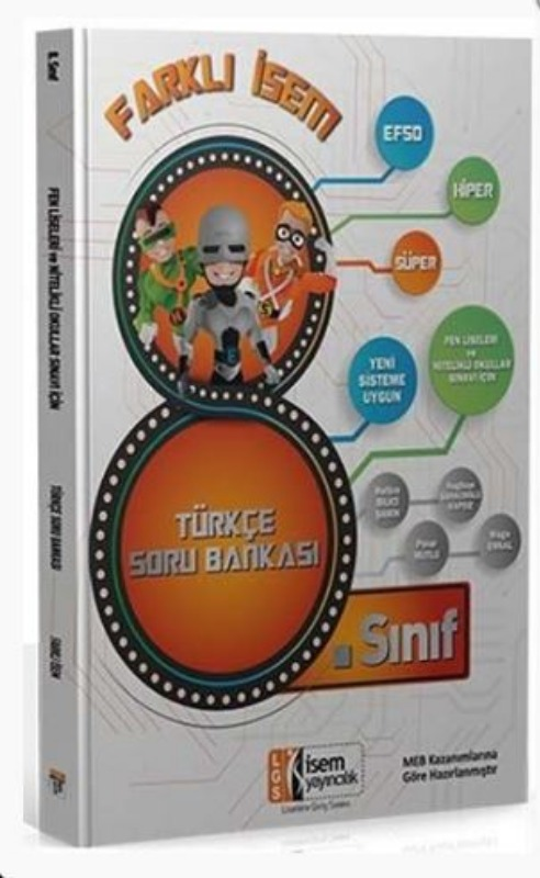 İsem Yayınları 8. Sınıf Türkçe Farklı İsem Soru Bankası