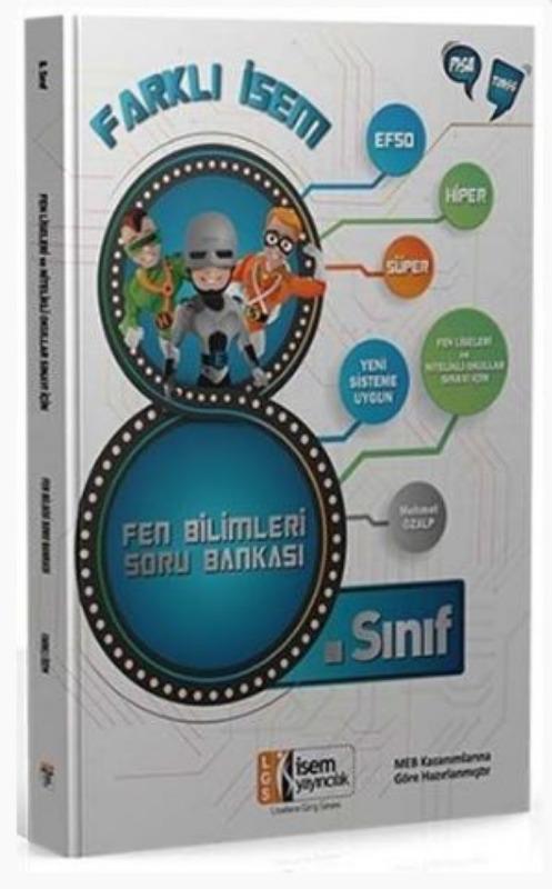 İsem Yayınları 8. Sınıf Fen Bilimleri Farklı İsem Soru Bankası