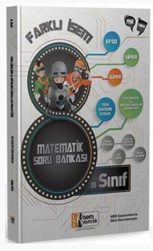 İsem Yayınları 8. Sınıf Matematik Farklı İsem Soru Bankası