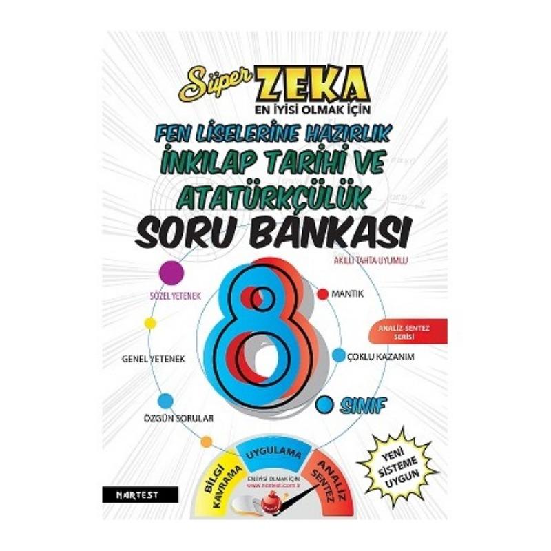 Nartest Yayınları 8. Sınıf Süper Zeka T.C. İnkılap Tarihi Soru Bankası