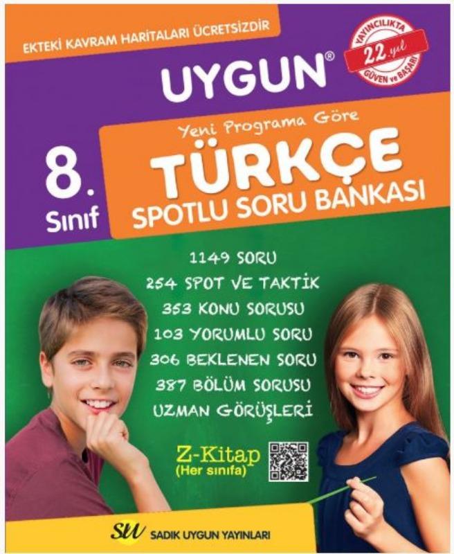 8. Sınıf Türkçe Soru Bankası Sadık Uygun Yayınları