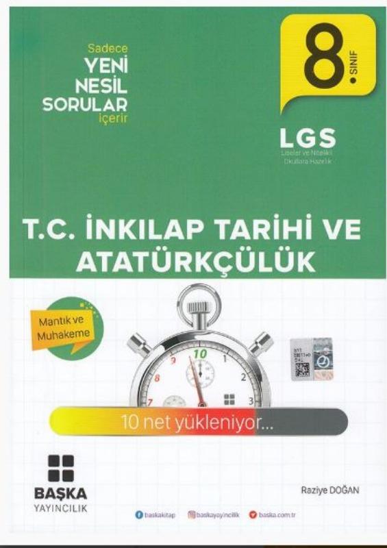 Başka Yayıncılık 8. Sınıf LGS T.C. İnkılap Tarihi ve Atatürkçülük Soru Bankası