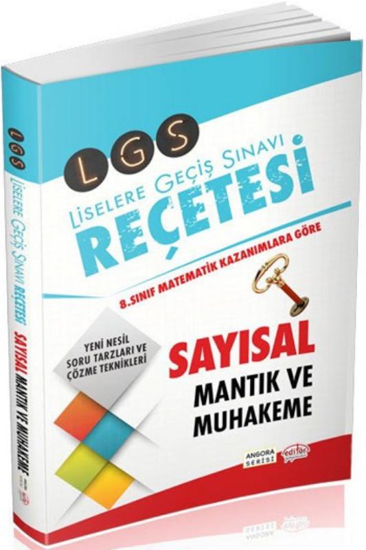 LGS Reçetesi Sayısal ve Mantık Muhakeme Editör Yayınları