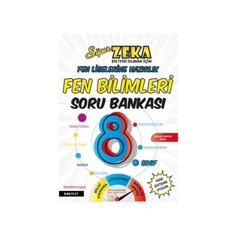 Nartest Yayınları 8. Sınıf Süper Zeka Fen Bilimleri Soru Bankası Fen Liselerine Hazırlık