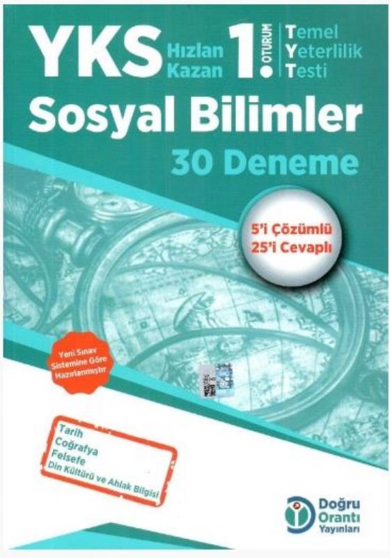 Doğru Orantı Yayınları YKS TYT Sosyal Bilimler 30 Deneme