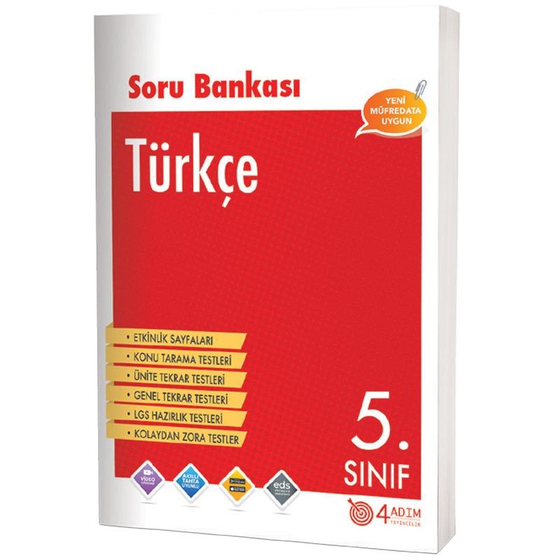4 Adım Yayınları 5.Sınıf Türkçe Soru Bankası