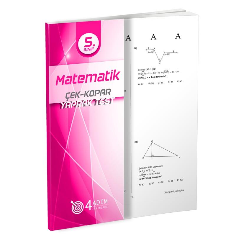 4 Adım Yayınları 5.Sınıf Matematik Çek Kopar Testler