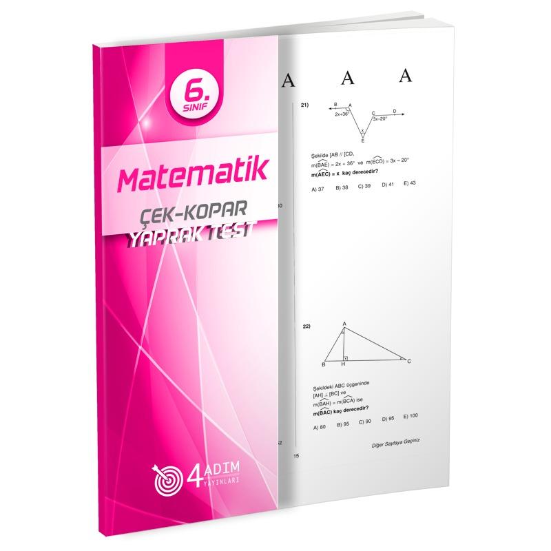 4 Adım Yayınları 6.Sınıf Matematik Çek-Kopar Yaprak Test