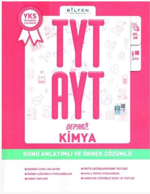 Bilfen Yayınları TYT AYT Depar Kimya Konu Anlatımlı ve Örnek Çözümlü
