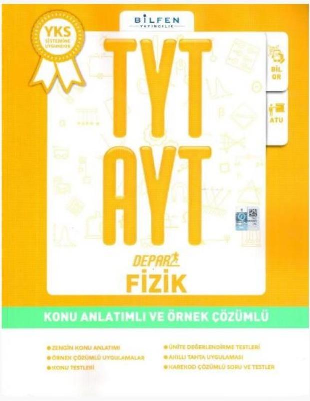 Bilfen Yayınları TYT AYT Depar Fizik Konu Anlatımlı ve Örnek Çözümlü