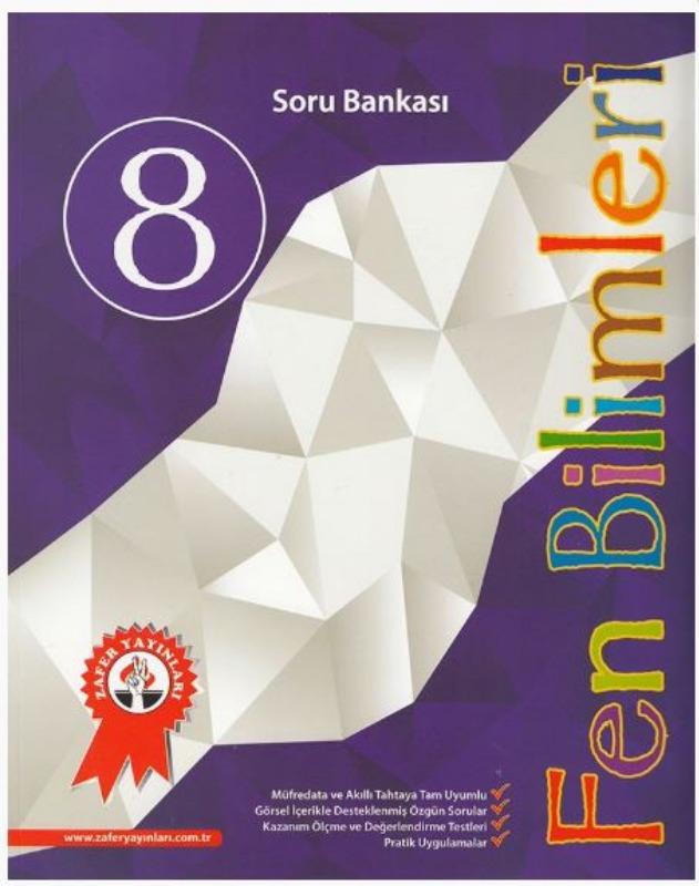 Zafer Yayınları 8. Sınıf Fen Bilimleri Soru Bankası