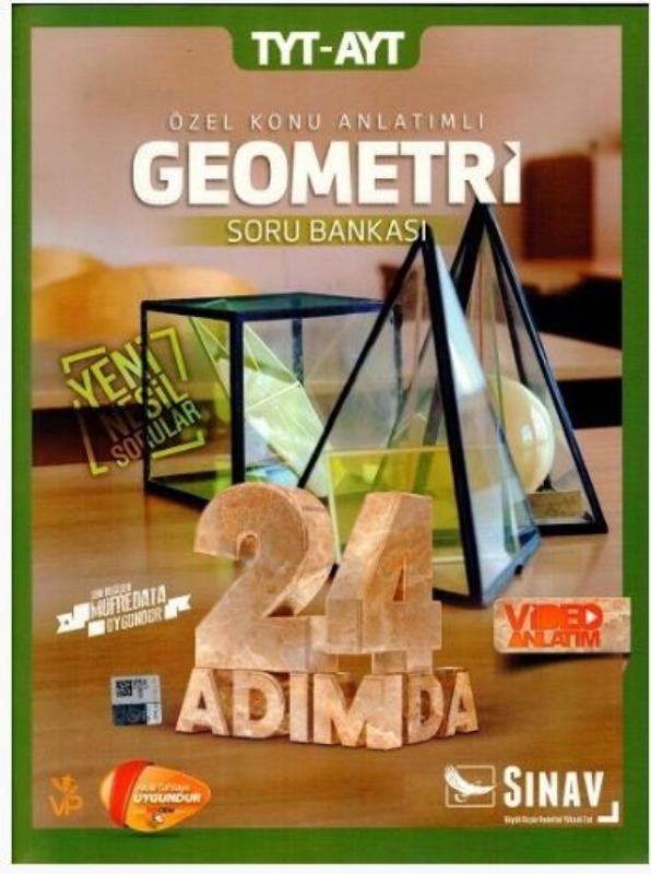 Sınav Yayınları TYT AYT Geometri 24 Adımda Özel Konu Anlatımlı Soru Bankası
