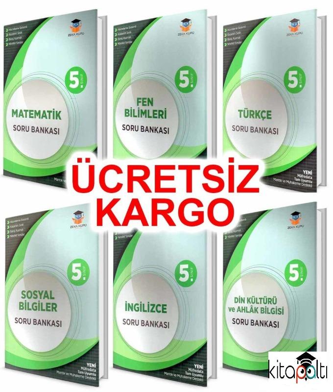 5.Sınıf Tüm Branşlar Soru Bankası Seti 2019 Yeni Müfredat Zeka Küpü Yayınları