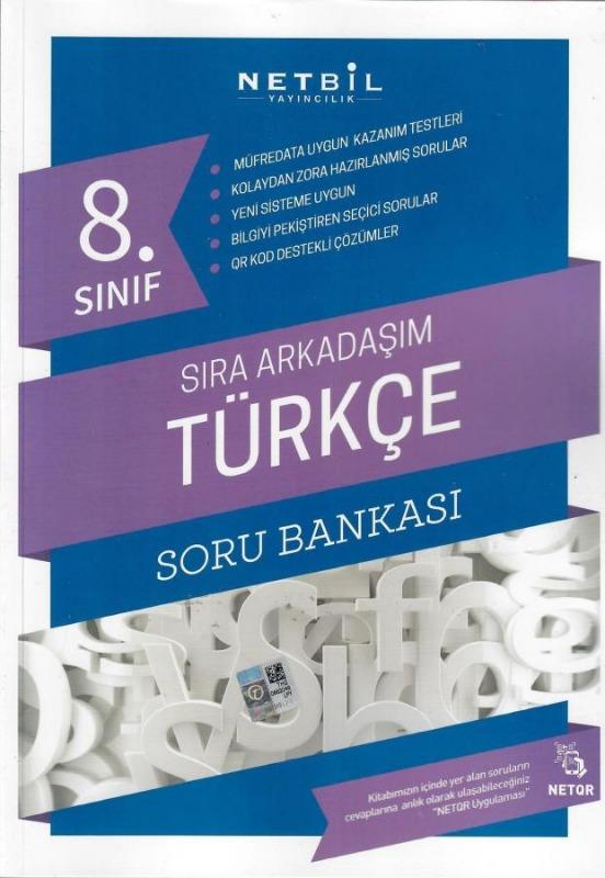 Netbil Yayıncılık 8. Sınıf Türkçe Sıra Arkadaşım Soru Bankası