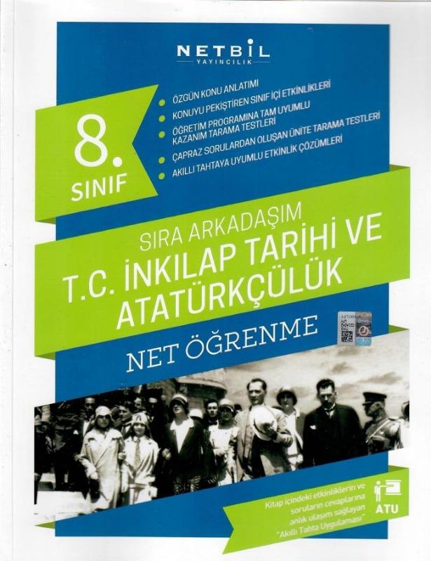 Netbil Yayıncılık 8. Sınıf T.C. İnkılap Tarihi ve Atatürkçülük Net Öğrenme Sıra Arkadaşım