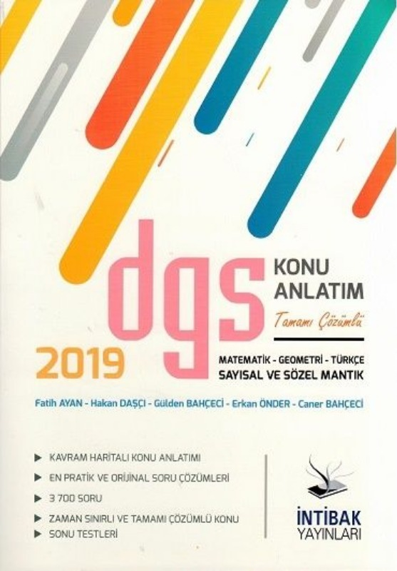 İntibak Yayınları  DGS Sayısal ve Sözel Mantık Konu Anlatım