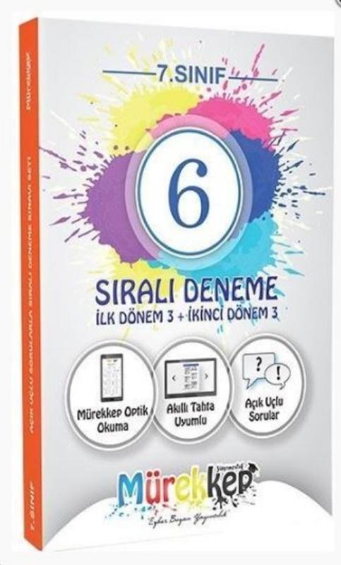 Mürekkep Yayınları 7. Sınıf Sıralı 6 Deneme