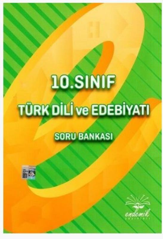 Endemik Yayınları 10. Sınıf Türk Dili ve Edebiyatı Soru Bankası
