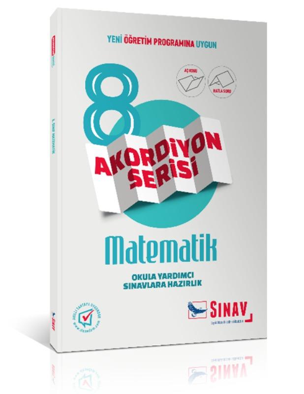 Sınav Yayınları 8. Sınıf Matematik Akordiyon Kitap