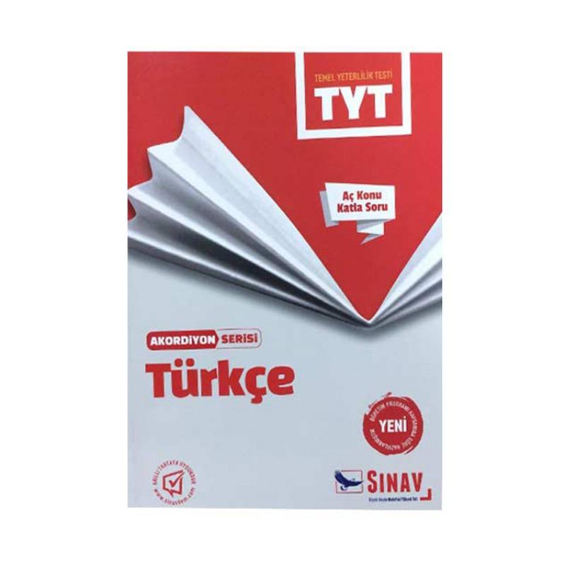 Sınav Yayınları TYT Türkçe Aç Konu Katla Soru Akordiyon Serisi