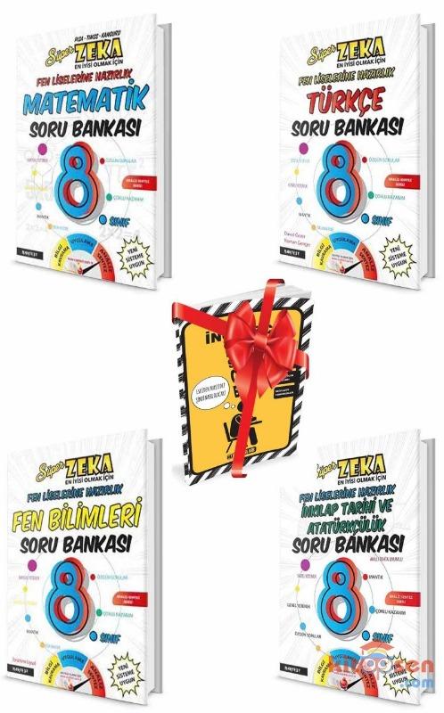 8.Sınıf Süper Zeka Fen Liselerine Hazırlık Soru Bankası Seti Nartest Yayınları