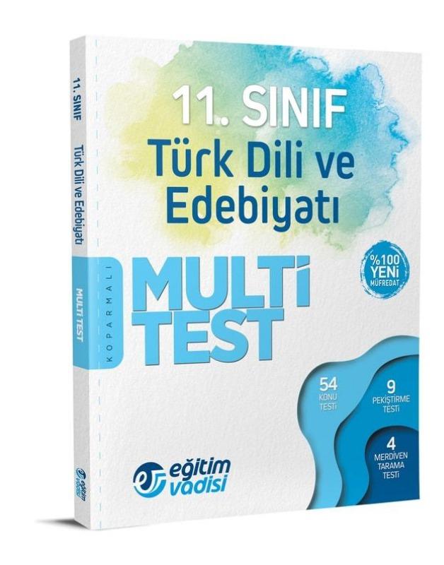 11.Sınıf Türk Dili Ve Edebiyatı Multi Test Eğitim Vadisi Yayınları