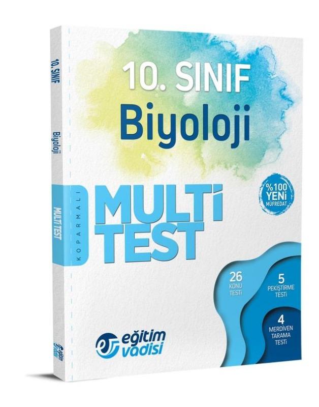 10.Sınıf Biyoloji Multi Test Eğitim Vadisi Yayınları