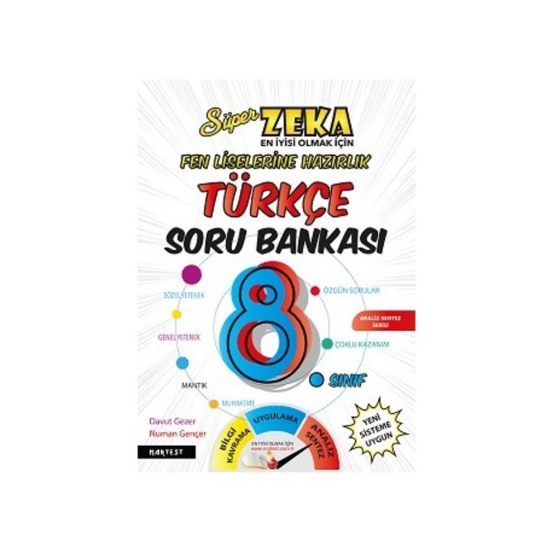 8. Sınıf Süper Zeka Türkçe Soru Bankası Fen Liselerine Hazırlık Nartest Yayınları