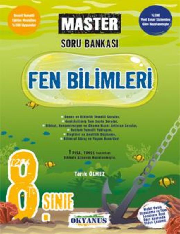 8. Sınıf Master Fen Bilimleri Soru Bankası  Okyanus Yayınları
