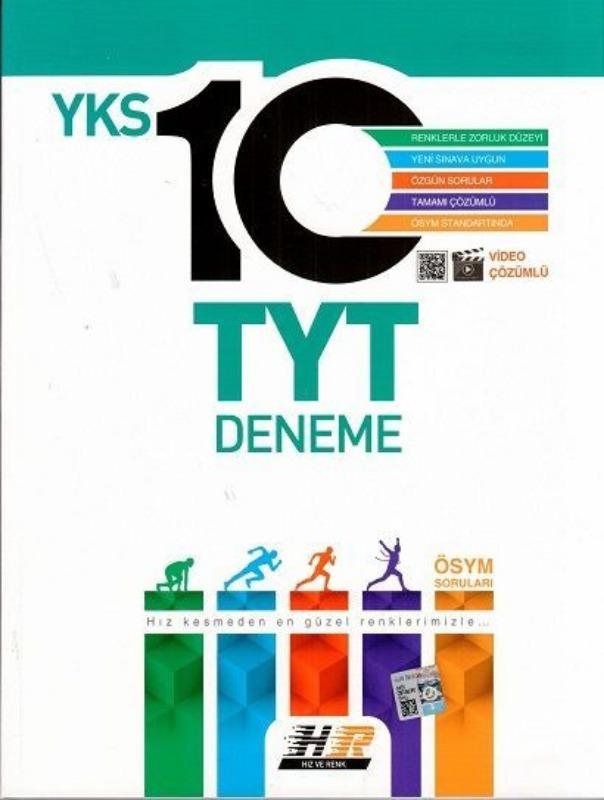 Hız ve Renk Yayınları TYT 10 Video Çözümlü Deneme
