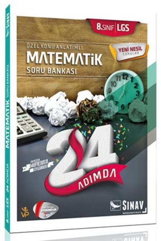 Sınav Yayınları 8. Sınıf LGS Matematik 24 Adımda Soru Bankası