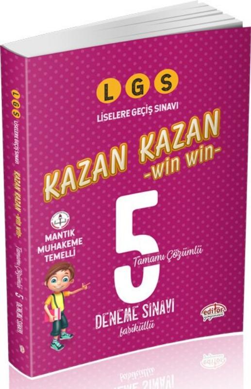 LGS Kazan Kazan Tamamı Çözümlü 5 Deneme Sınavı Editör Yayınları